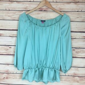 Vince Camuto Off The Shoulder Peplum Blouse Small